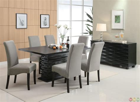 Gray Dining Room Furniture by Stanton Semi Formal Gray 7 Dining Room Furniture Set