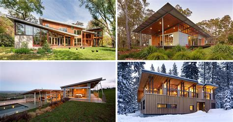 modern sloped roof house plans 16 exles of modern houses with a sloped roof contemporist