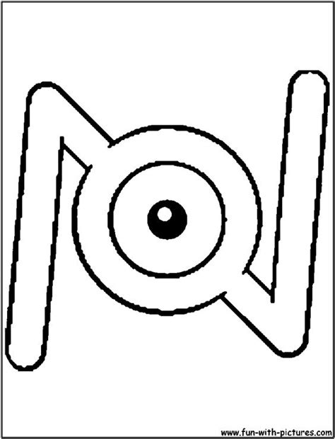 unown pokemon coloring pages unown n coloring page alphabet n pinterest pokemon