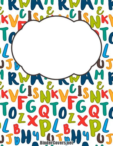 free printable binder covers no download printable alphabet binder cover