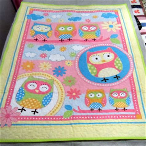 Handmade Quilts Australia - owls baby cot quilt handmade in from fiberartplus on etsy