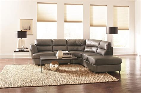 contemporary leather sectional with chaise chaisson contemporary grey bonded leather sectional sofa