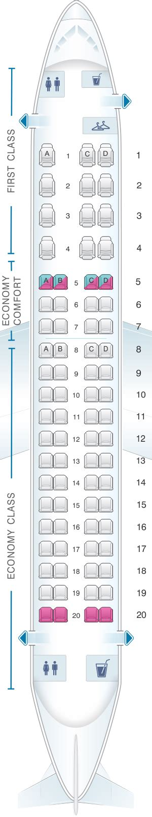 embraer 175 jet seating chart seat map delta airlines embraer 175 seatmaestro