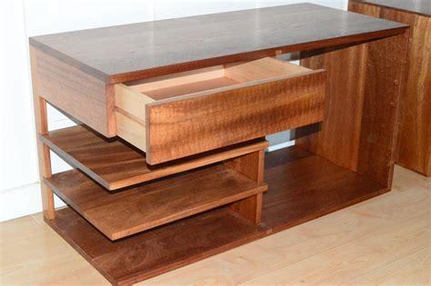 Handmade Nightstand - handmade solid sapele nightstand with figured floating
