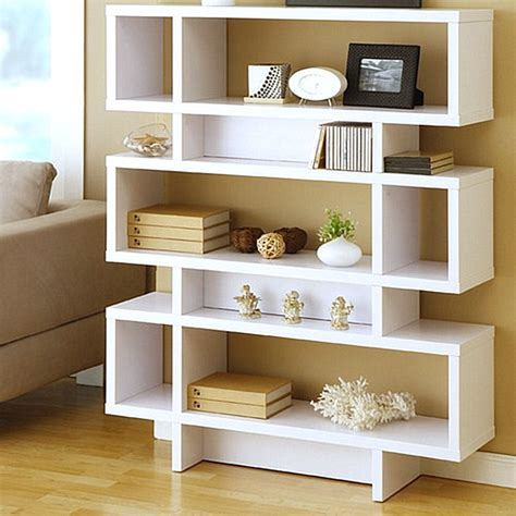 modern bookcase on furniture storage