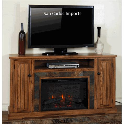 rustic oak tv stand fireplace oak tv stand fireplace