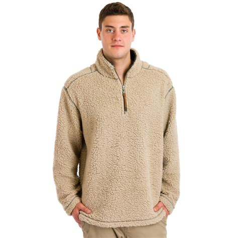 Wishbone Home Decor by True Grit Men S Sueded Soft Sherpa 1 4 From