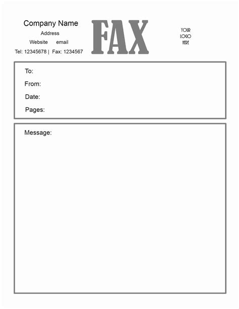 fax template in word fax cover sheet template word haisume