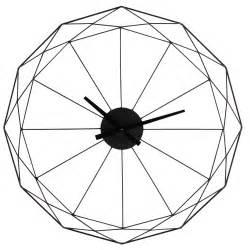 horloge en m 233 tal noir d 80 cm origami maisons du monde