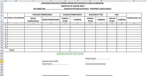 contoh format askep keluarga contoh format laporan realisasi pembayaran pkh tahun 2016