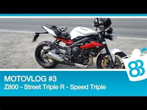 Triumph Motorrad Probefahrt by Motovlog 3 Kawasaki Z800 Triumph R