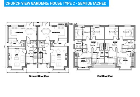 House Plannings Semi Detached House Plan Numberedtype