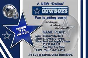 Dallas Cowboys Baby Shower Invitations by Nfl Dallas Cowboys Custom Baby Shower Invitations
