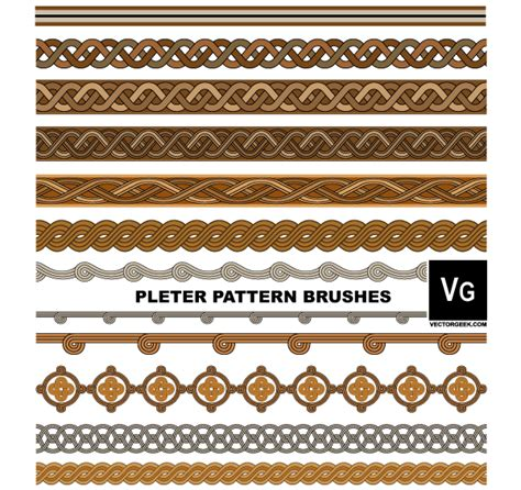 illustrator pattern brush download pleter pattern brushes illustrator 123freevectors