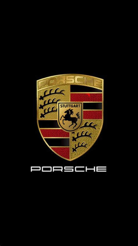 porsche logo black background porsche emblem wallpaper wallpapersafari