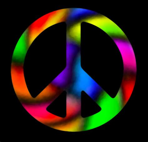 colorful peace sign color me pinterest
