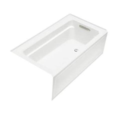 home depot kohler bathtub kohler archer 5 ft right drain soaking tub in white k
