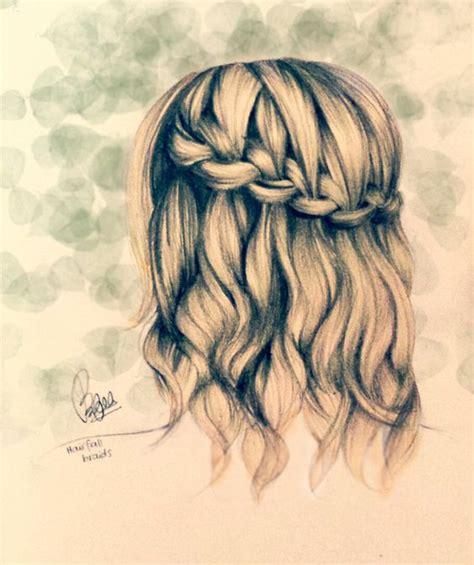 drawing hairstyles braid cute drawings of girls google search art pinterest