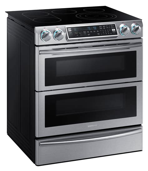 samsung electric range samsung 5 8 cu ft slide in electric flex duo range ne58k9850ws the brick