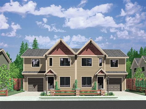 duplex row house floor plans bruinier com house plans duplex plans row home plans vacation home plans