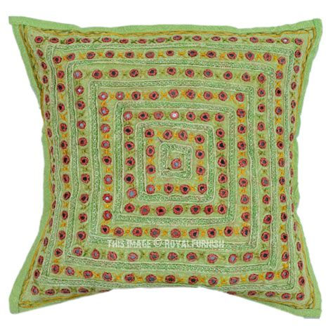 Bohemian Throw Pillows by 41x41 Quot Squared Mirrored Embroidered Handmade Bohemian