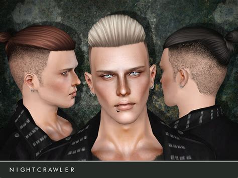 sims 4 half shaved side hair shaved hairstyle 06 by nightcrawler sims 3 hairs