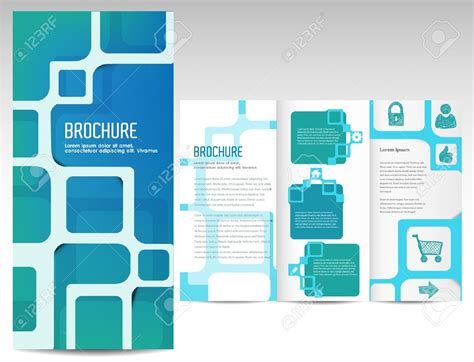 tri fold brochure layout design template marketing brochure templates set 1