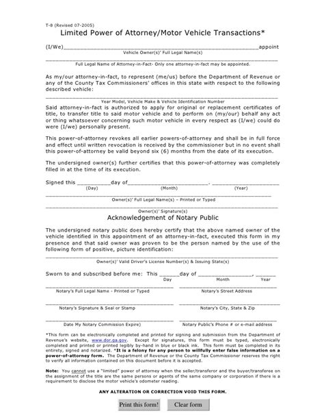 limited power of attorney template special power of attorney template images frompo 1