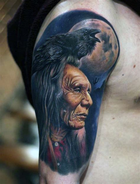 red indian tattoo designs for men 70 quarter sleeve designs for masculine ink ideas