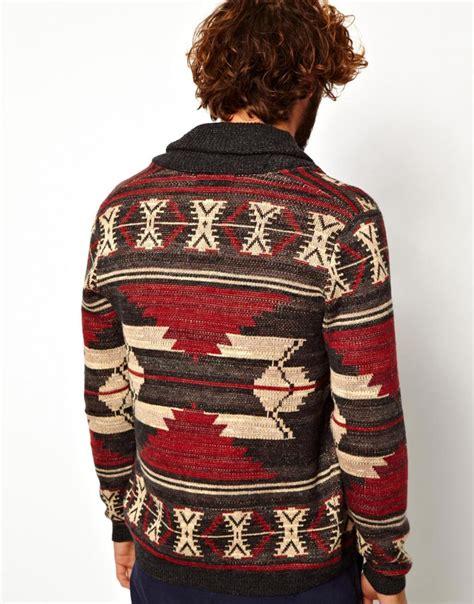 Pasmina Denim Motif 12 ralph denim supply ralph shawl cardigan with pattern for lyst