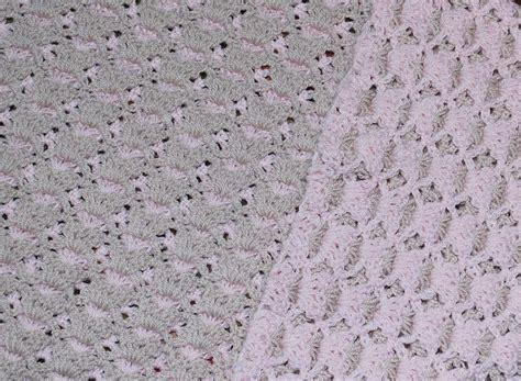 reversible ripple afghans free pattern reversible shell baby blanket free pattern blanket and