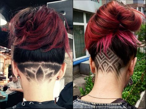 color pattern for short hair cool undercut female hairstyles to show off hairstyles