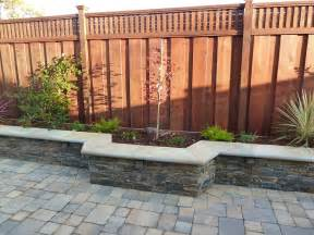 backyard on interlocking pavers paving stones