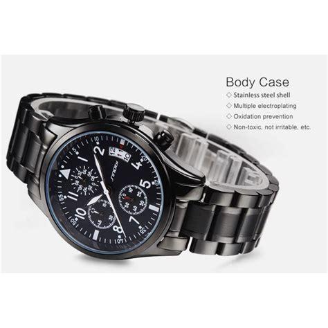 Jam Tangan Pria Sport Quicksilver Chrono Aktif Black White sinobi jam tangan pilot chrono pria 9639 black jakartanotebook