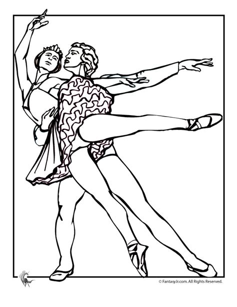 ballet coloring pages ballet dancer coloring pages az coloring pages
