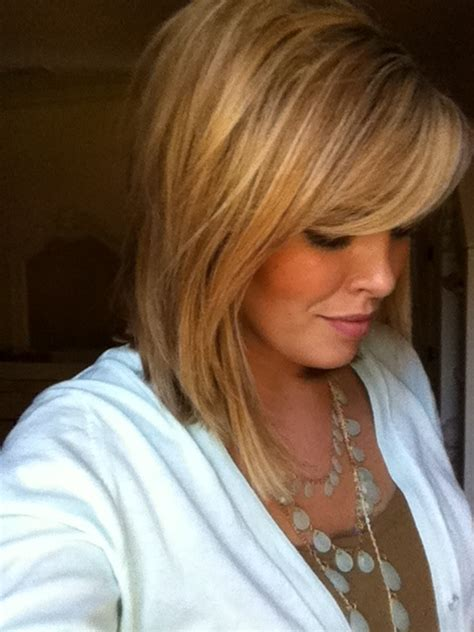 hairstyles with bangs highlights and low lights long bob lowlights and highlights hair pinterest