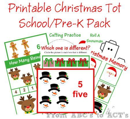 printable christmas party games pack download printable chirstmas preschool pack school pack preschool and homeschool