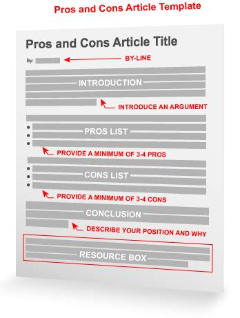 pros and cons list template the pros and cons article template