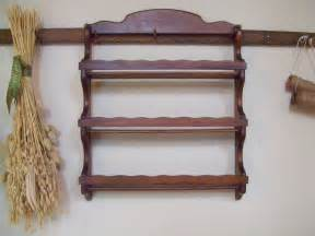 vintage wood spice rack wooden spice shelves by