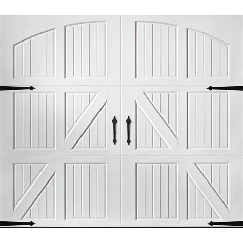 Shop Pella Carriage House Series 8 Ft X 7 Ft White Single 7 Ft Garage Door