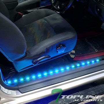 led light strips for car interior 2x 36 quot 2x 48 quot 7 color interior car kit led lights system universal car interior
