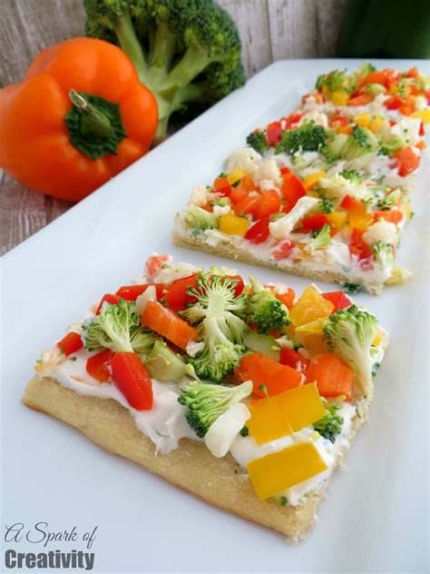 appetizers vegetable easy vegetable pizza appetizer a spark of creativity
