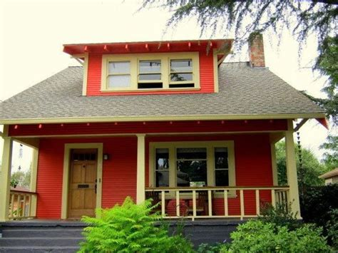 Wall Painting Colours by Bold Color Choices For A Vintage Bungalow Traditional