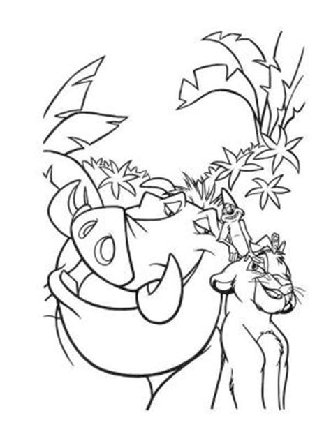 20 dessins de coloriage Timon Et Pumba A Imprimer à imprimer