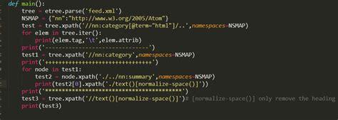 python xpath tutorial remove newline and whitespace parse xml with python xpath