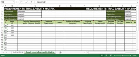 Requirements Traceability Matrix Template Excel by Lean Traceability In Three Steps