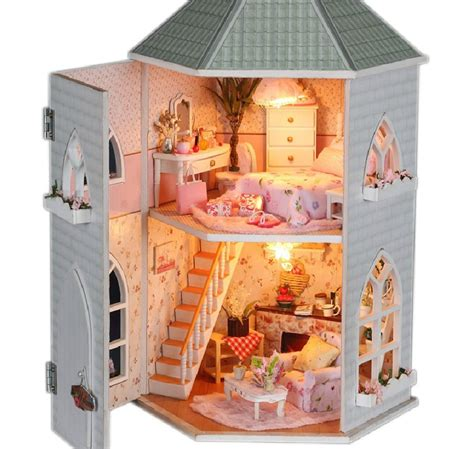 Handmade Wooden Doll Houses For Sale - aliexpress buy free shipping new diy dollhouse 3d