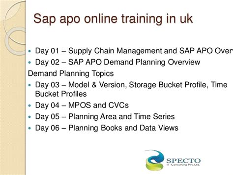 tutorial sap apo sap apo online training sap apo training in usa uk