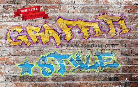 tutorial graffiti photoshop cs5 graffiti photoshop text style freebie psddude