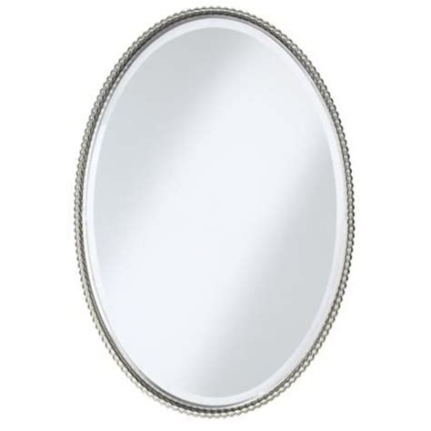 oval bathroom mirrors brushed nickel uttermost brushed nickel sherise oval 32 quot high wall mirror